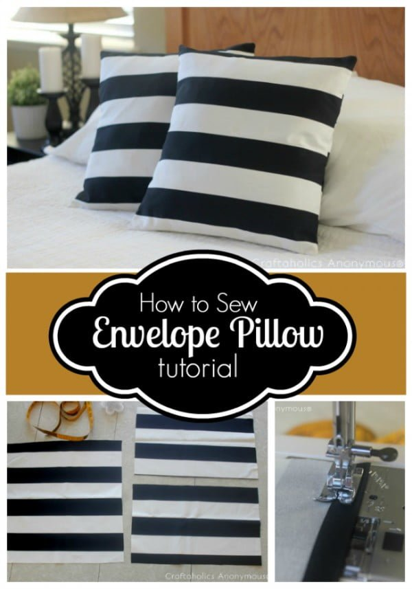 10 Insanely Easy DIY Pillow Cover Ideas - Learn how to make these easy DIY envelope pillow covers