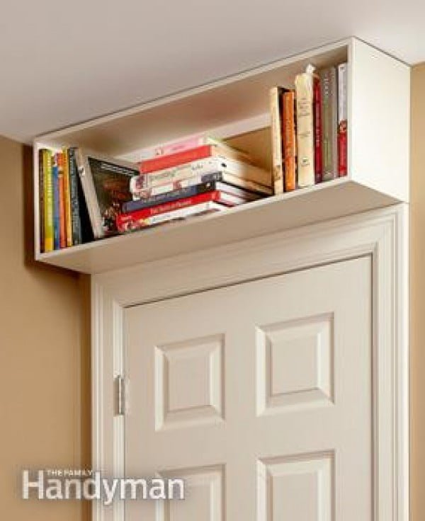 How to build  over the door bookcase for more storage space in a small room