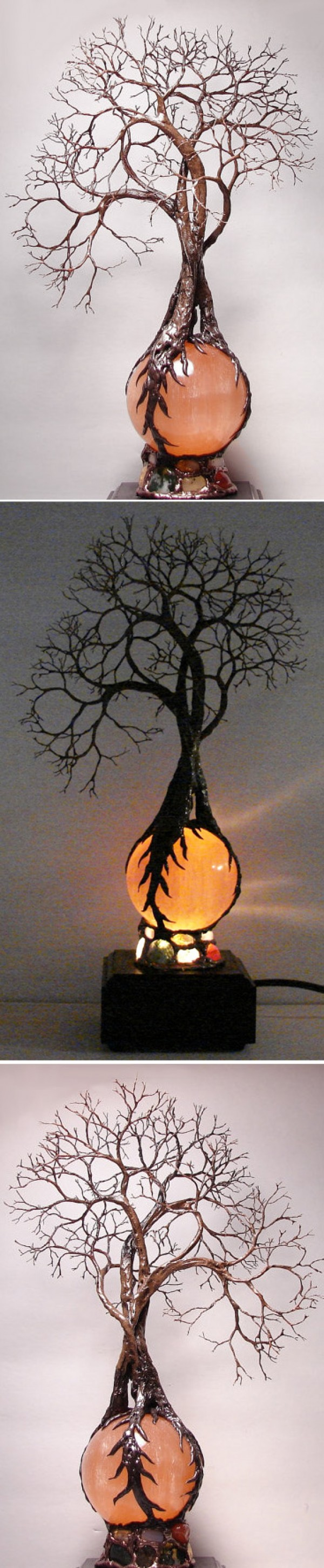 Check out this cool tree table lamp design