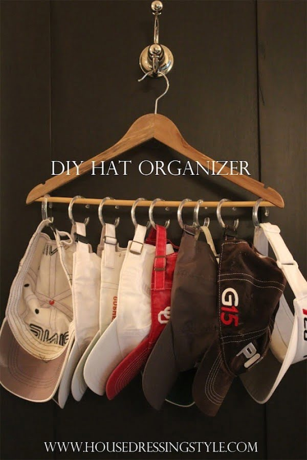 Great idea for a DIY hat organizer