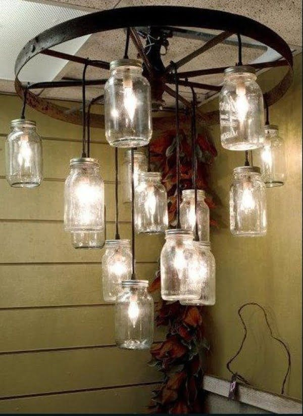 Love the idea for a DIY rustic chandelier