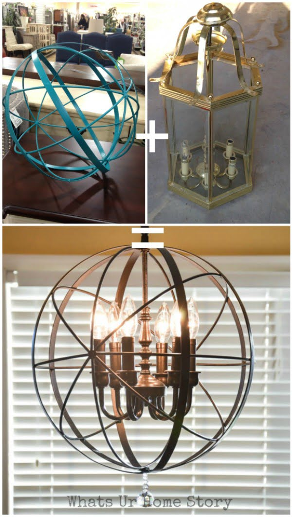 Check out how to make this easy DIY orb chandelier