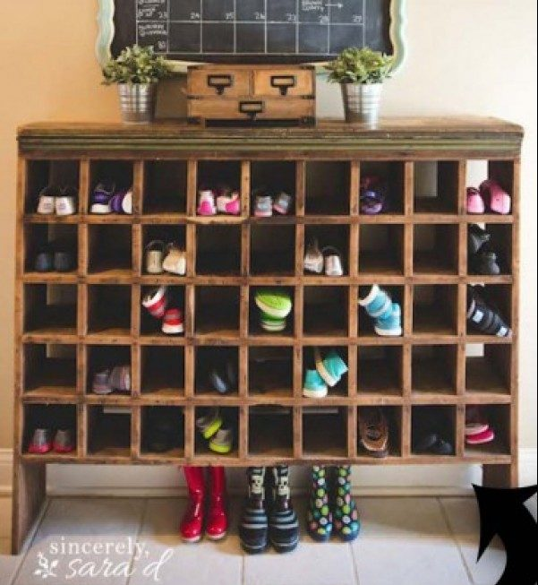 60+ Easy DIY Shoe Rack Ideas You Can Build on a Budget - Check out how to build this cool shoe storage cubby