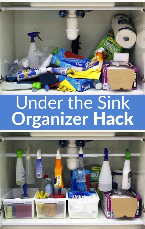 Brilliant idea for under the sink storage organizer