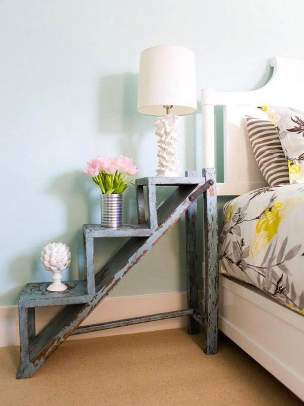 Love the shabby chic decorative nightstand