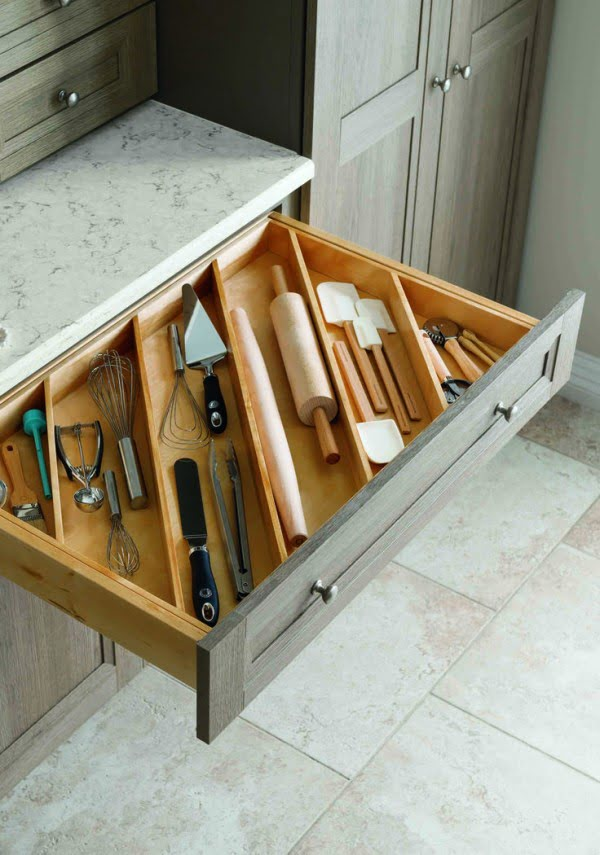 Great idea for a kitchen drawer organizer