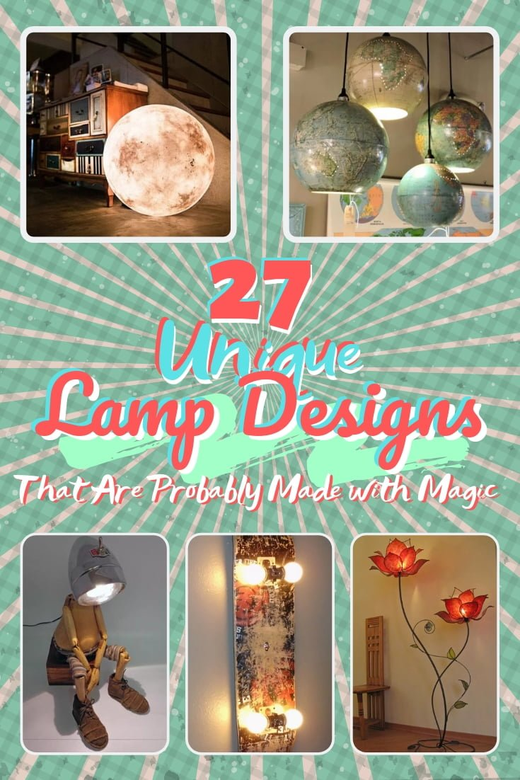 Lamps make great decor accessories and accents. Here's a list of 27 unique lamps that are probably made with magic! Great list worth saving! #homedecor
