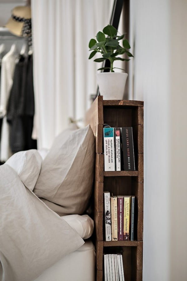 Love the idea for headboard storage