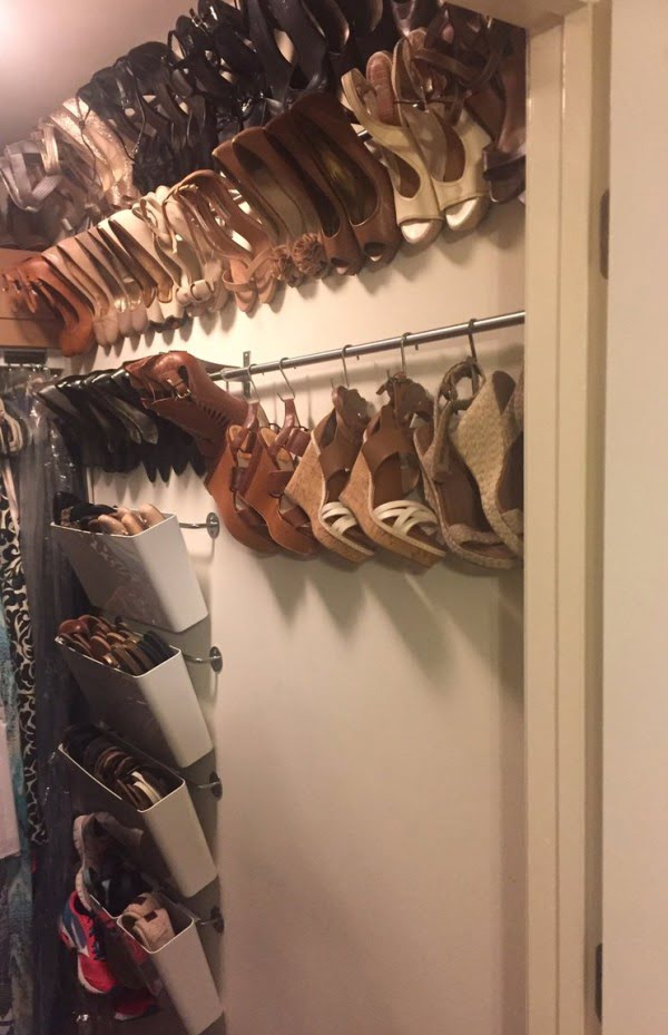 Check out how to make your own hanging shoe storage rack