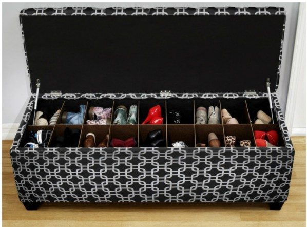 60+ Easy DIY Shoe Rack Ideas You Can Build on a Budget - Love this bench with secret shoe storage