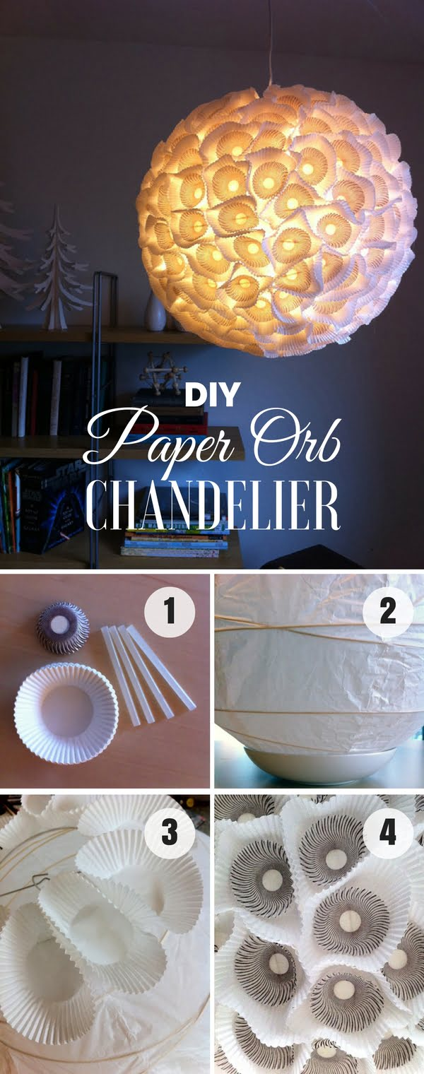 Check out how to make this beautiful DIY paper orb chandelier