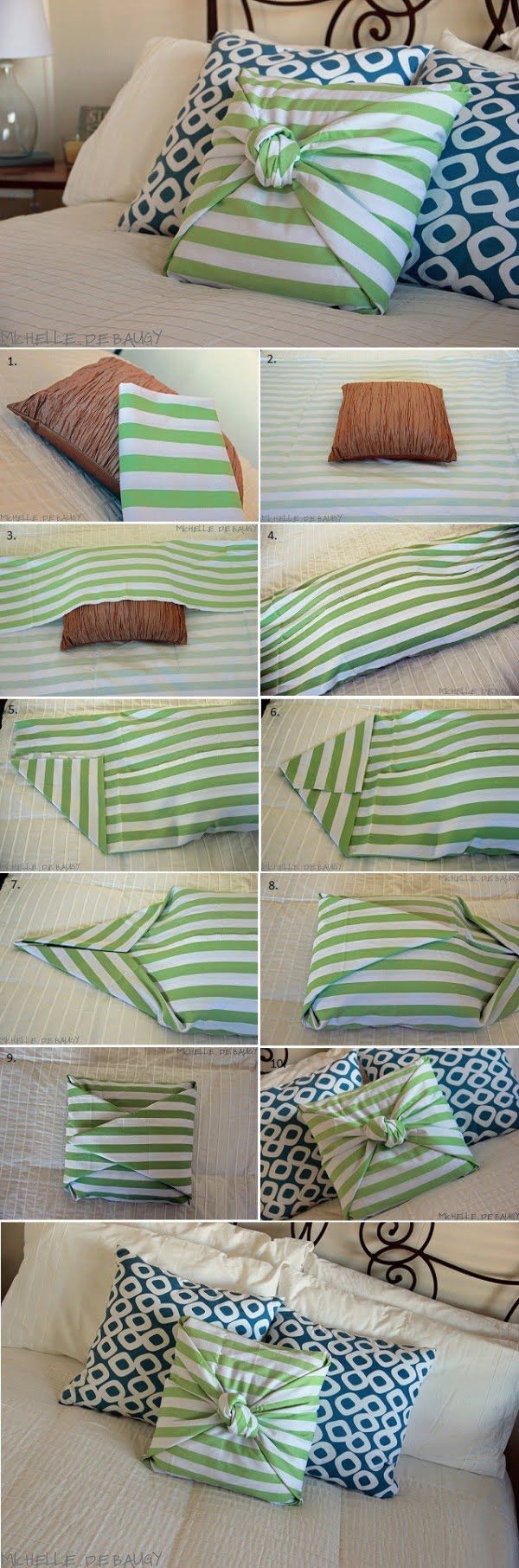 10 Insanely Easy DIY Pillow Cover Ideas - Check out how to make these very easy DIY no sew pillow cases