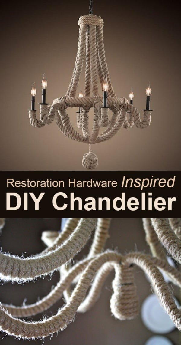 Check out how to make this DIY chandelier from rope