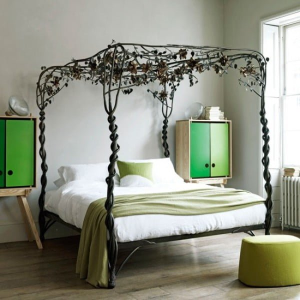 Love this decorative vine tree canopy bed
