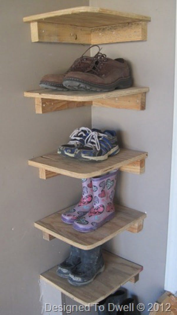 shoes storage corners