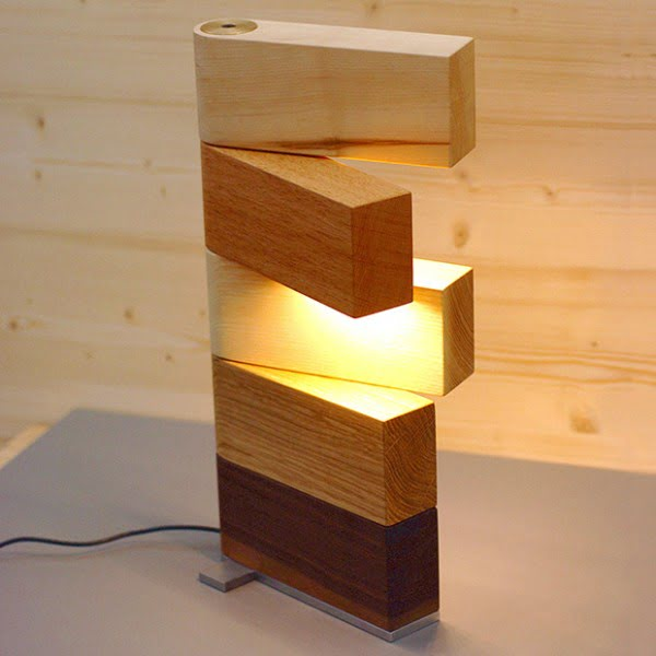 Check out this awesome wooden block lamp design by Thomas Lemut @istanddarddesign