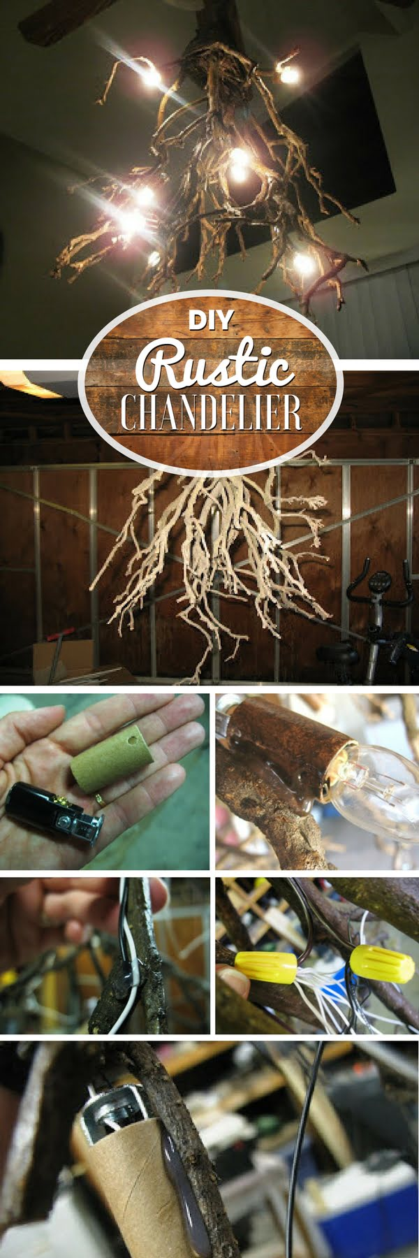 Check out how to make a DIY chandelier from tree roots