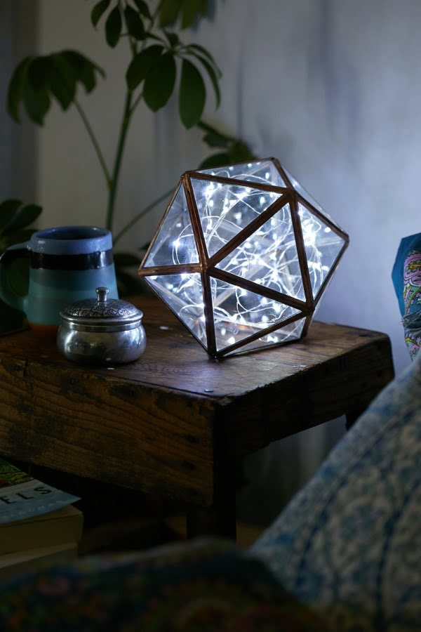 Check out this cool polyhedron lamp