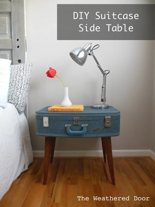 Check out how to turn an old suitcase into a unique DIY nightstand @istandarddesign