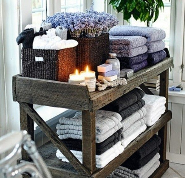 How to build your own DIY shelf rack for bathroom storage
