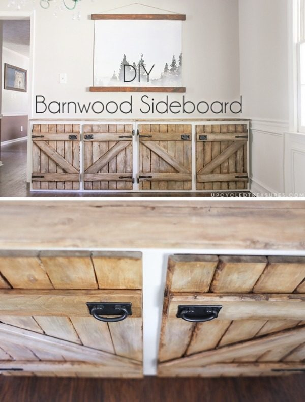 Check out how to transform any old cabinet into #DIY barnwood cabinets #rustic #HomeDecorIdeas