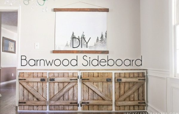 How to transform any old cabinet into  barnwood cabinets
