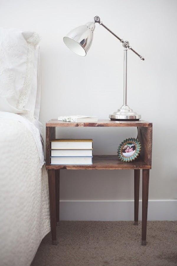 Mid-century Rustic DIY Nightstand