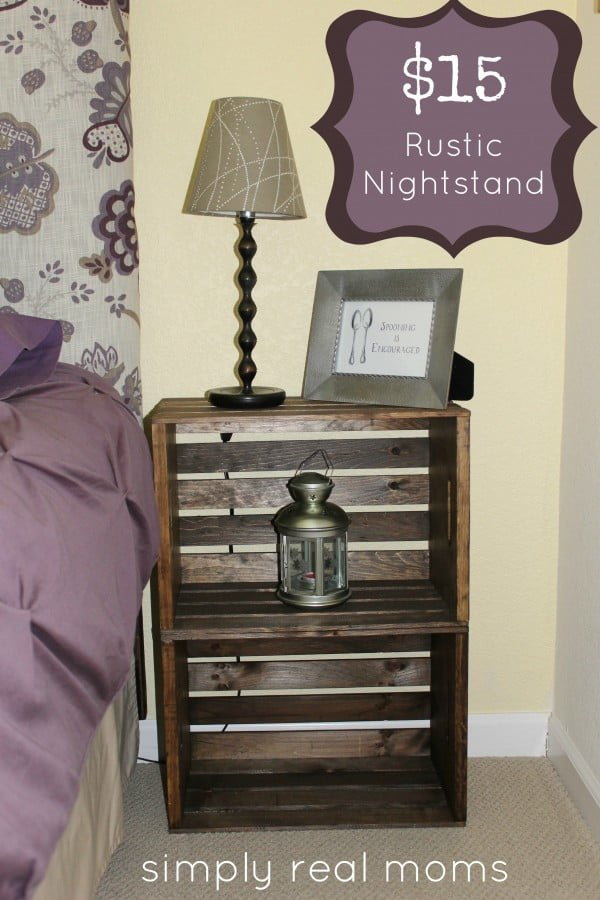 12 Easy DIY Nightstands That You Can Build on a Budget - Check out how to build an easy rustic DIY nightstand from milk crates