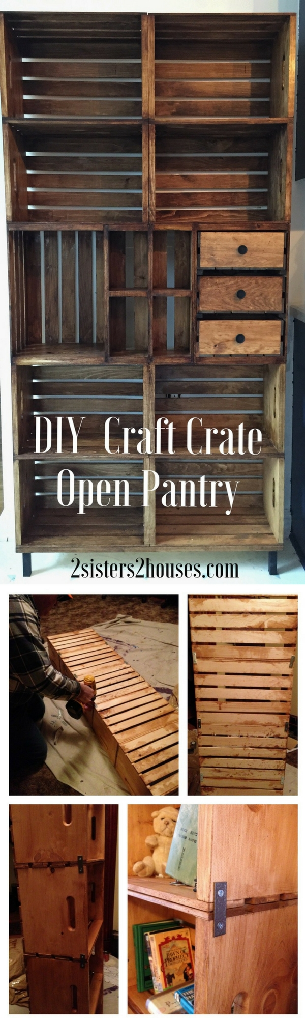 Check out how to build a DIY open pantry from crates
