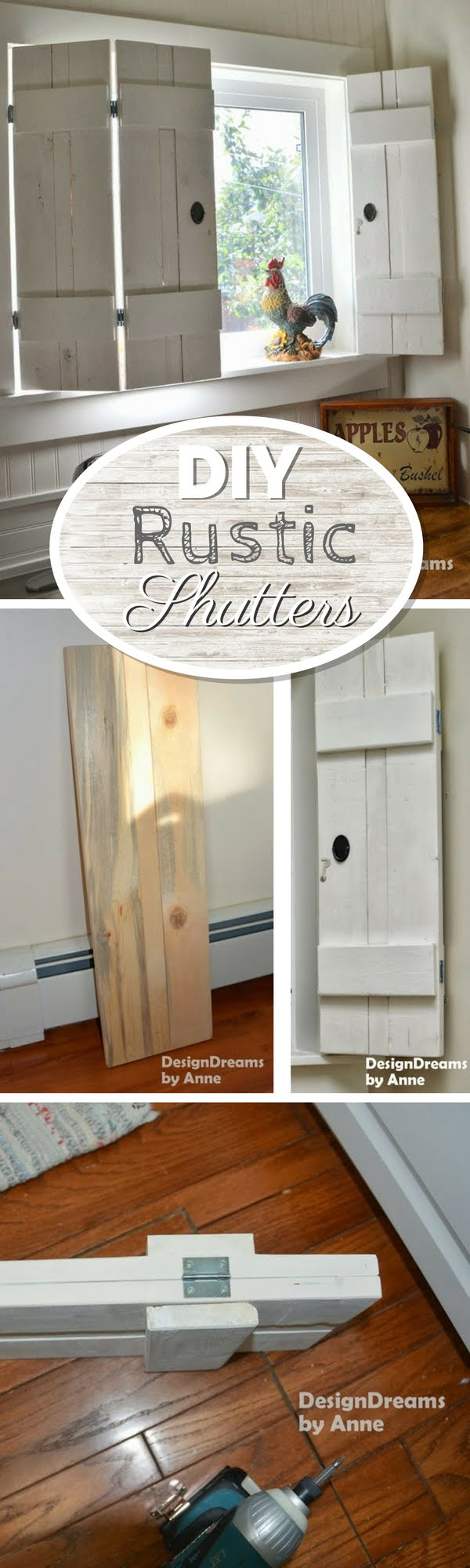 How to build easy DIY rustic window shutters