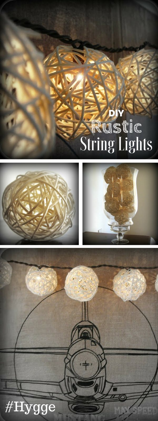 Check out how to make easy DIY rustic string lights