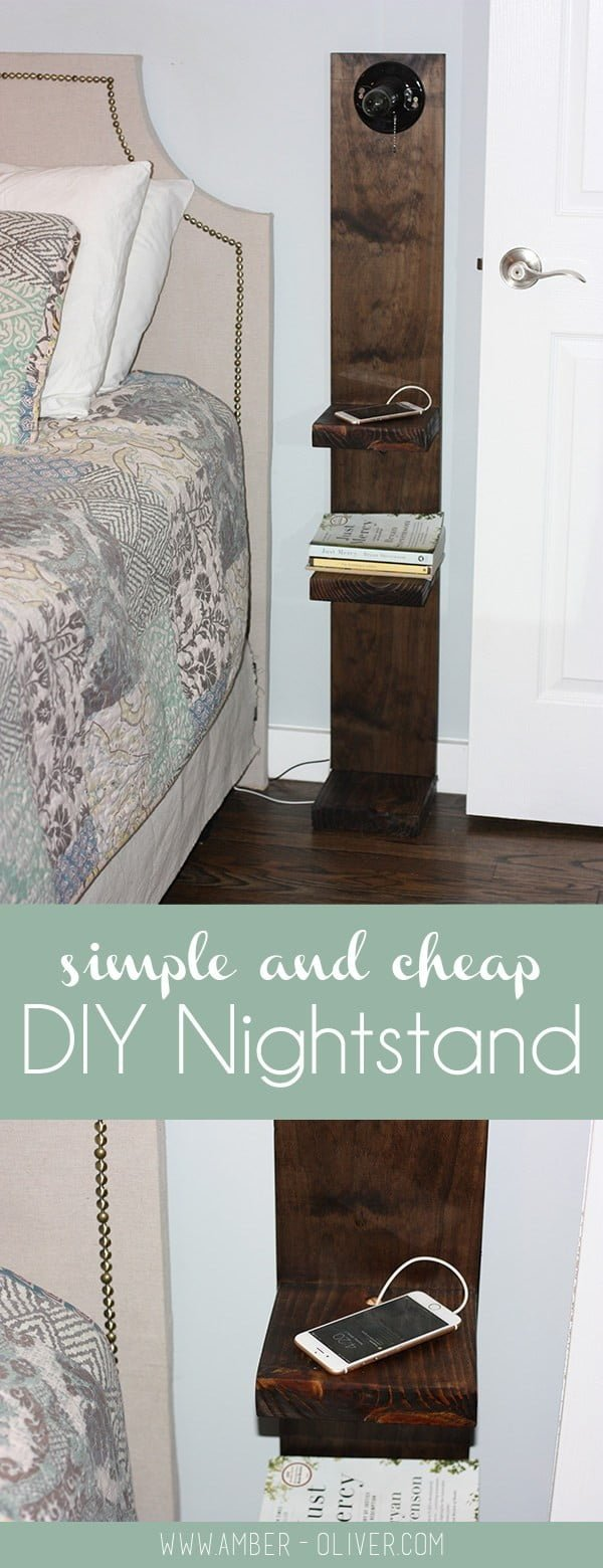 12 Easy DIY Nightstands That You Can Build on a Budget - Check out how to build an easy DIY nightstand with lighting