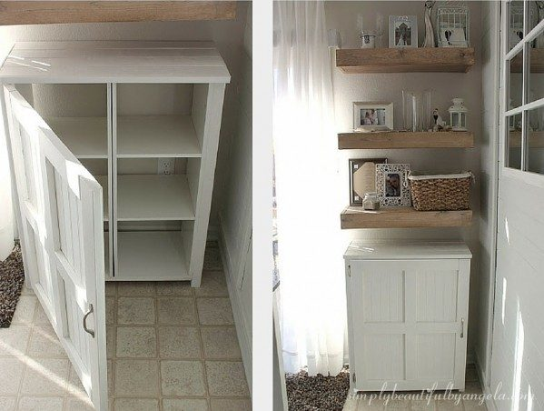 How to build this DIY storage cabinet from cheap storage cubes