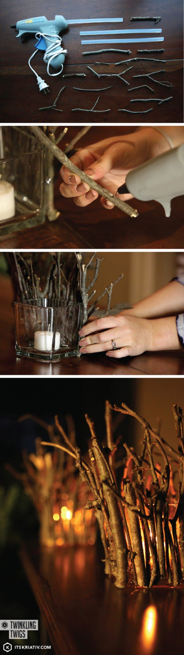 Check out how to make these DIY rustic twig candle holders