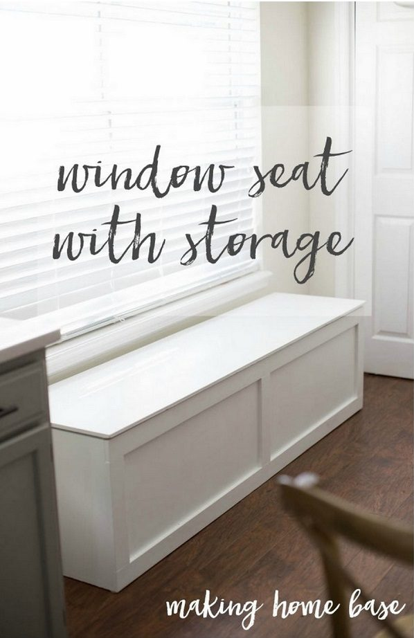 How to build an easy DIY window seat with storage