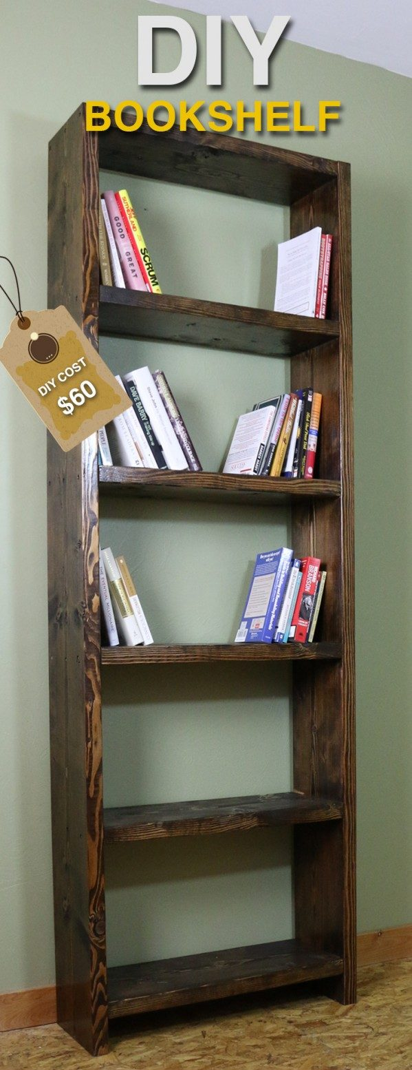 Do It Yourself Home Design: 22 Amazing DIY Bookshelf Ideas With Plans You Can Make Easily