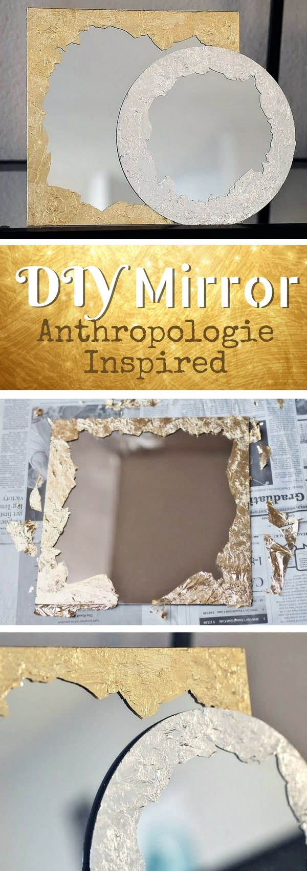 50 Fab DIY Mirror Frames You Can Easily Make Yourself - Check out how to make DIY Anthropologie inspired plated brushstroke mirrors