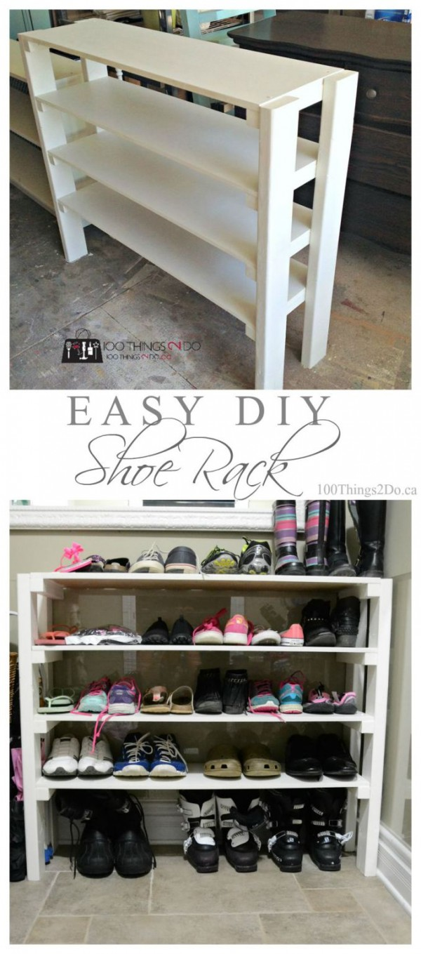 60+ Easy DIY Shoe Rack Ideas You Can Build on a Budget - Check out how to build an easy DIY shoe rack
