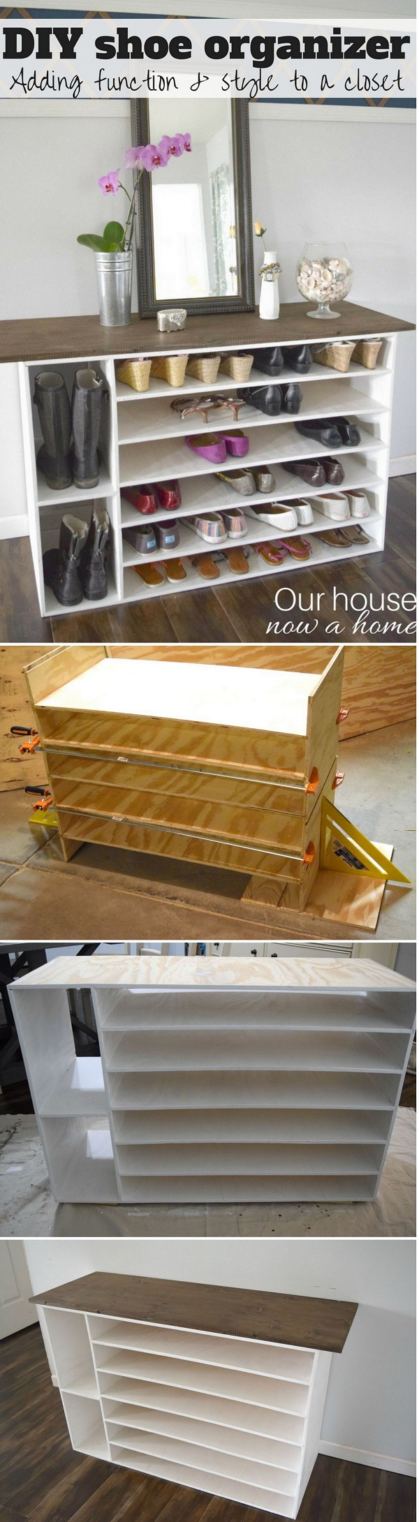 60+ Easy DIY Shoe Rack Ideas You Can Build on a Budget - Check out how to build your own DIY shoe storage organizer