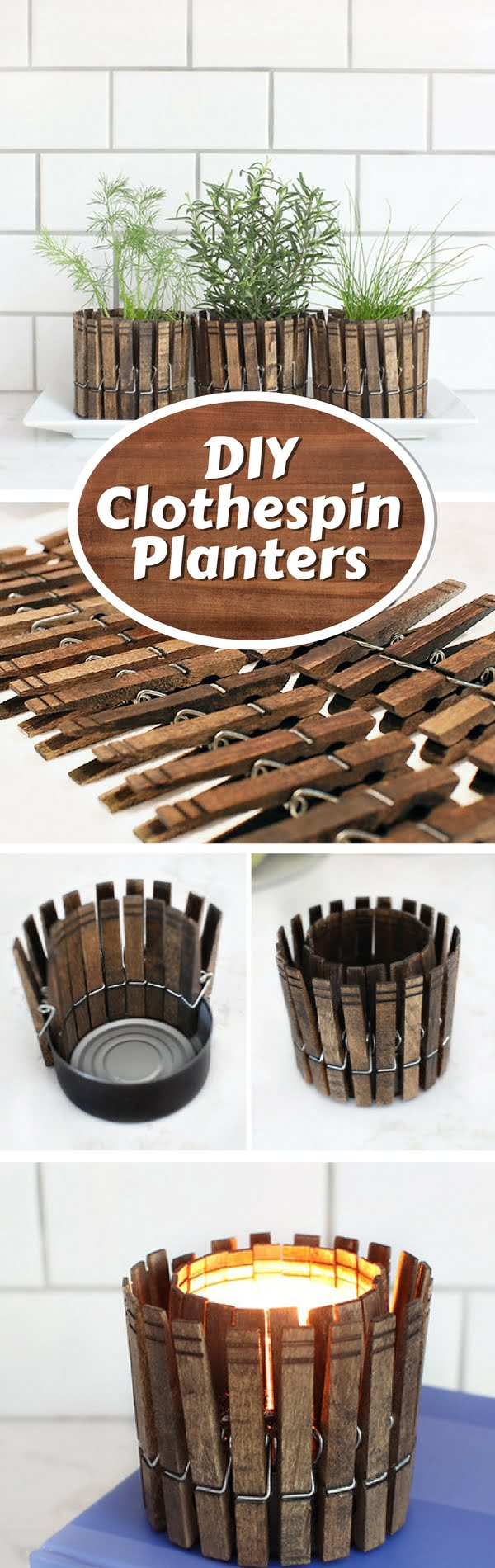 Check out how to make DIY planters from clothespins