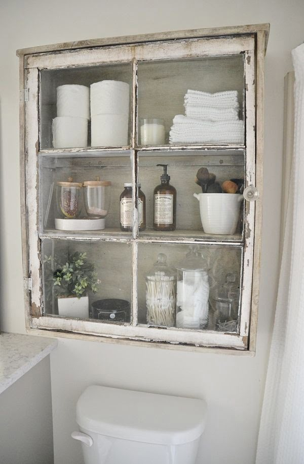 How to build a DIY bathroom cabinet from an old window