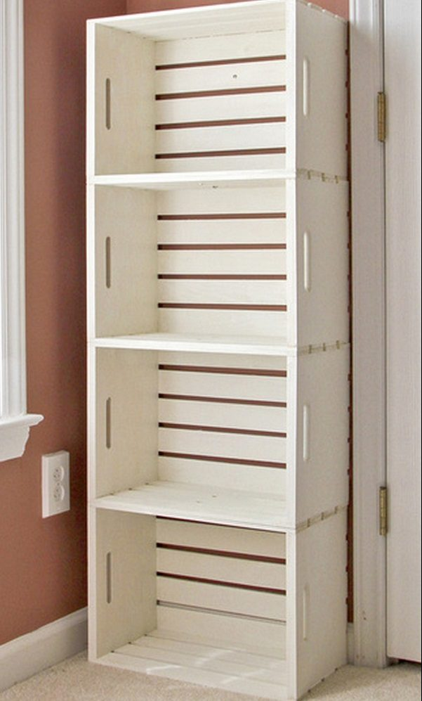 How to build an easy DIY bathroom storage unit from crates