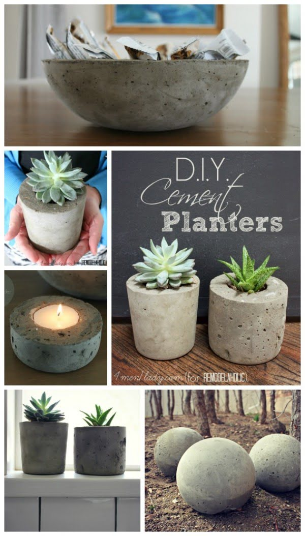 Check out how to make easy DIY concrete planter pots