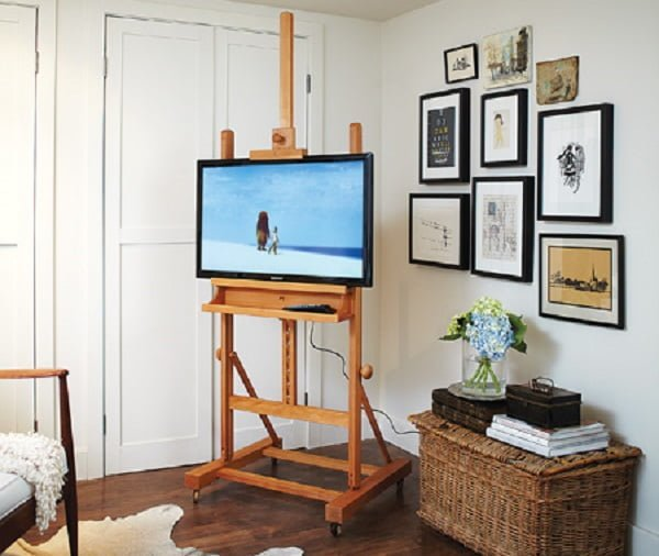 Neat idea! How to build a  easel TV stand. ideas