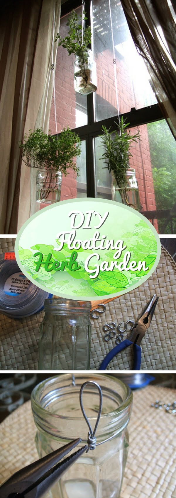 Check out how to make this DIY float herb garden