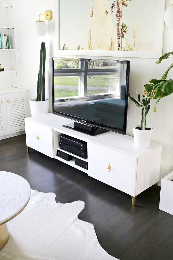 Neat idea! How to stylize an IKEA TV console #DIY #homedecorideas