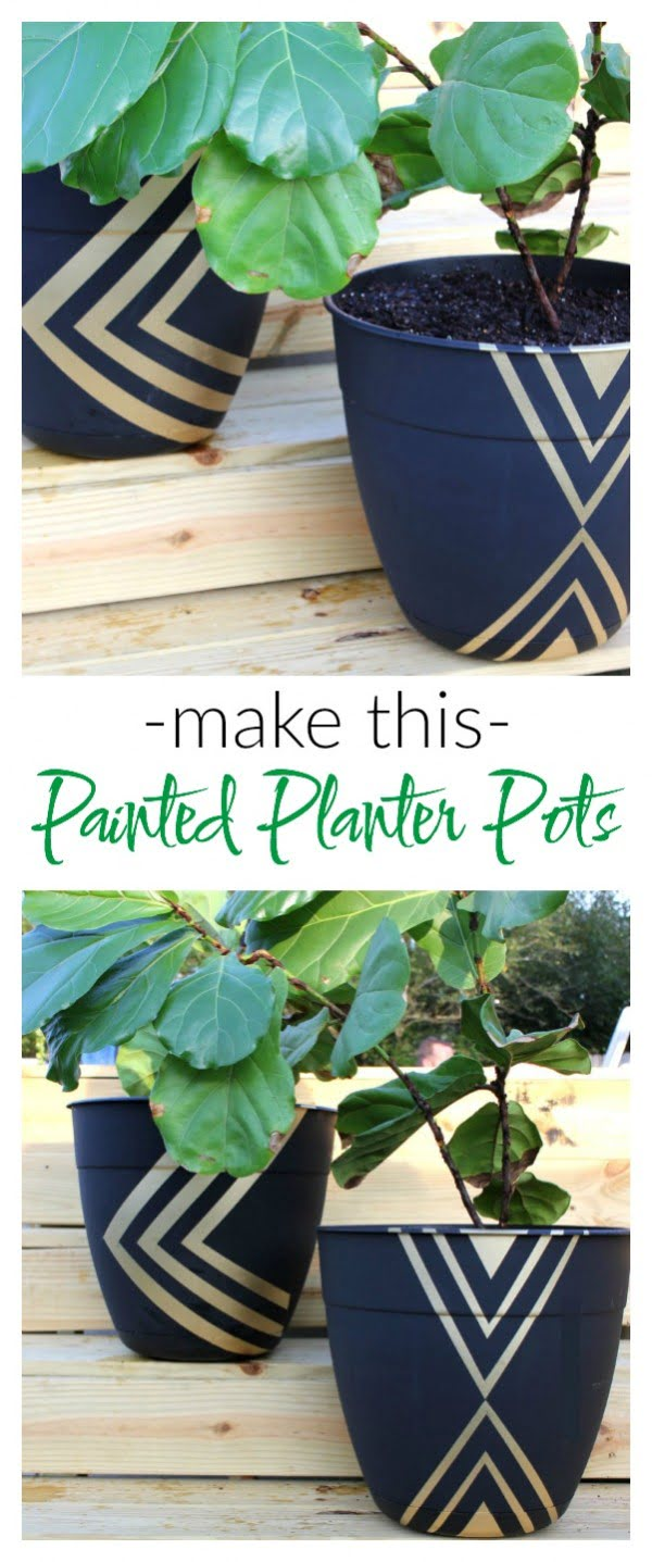 Check out how to make a DIY painted planter pod