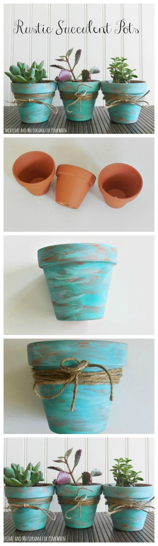 Check out how to make DIY rustic planter pots