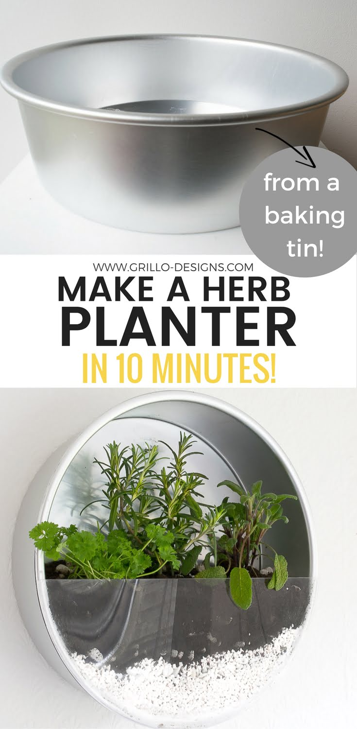 Check out how to make a DIY planter from an old baking pan