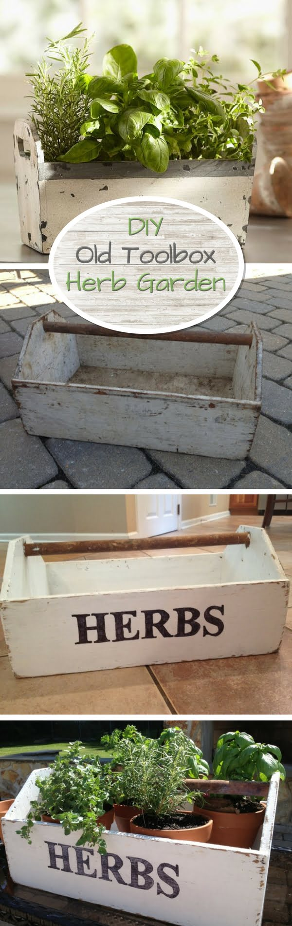 How to make a DIY herb garden from an old toolbox